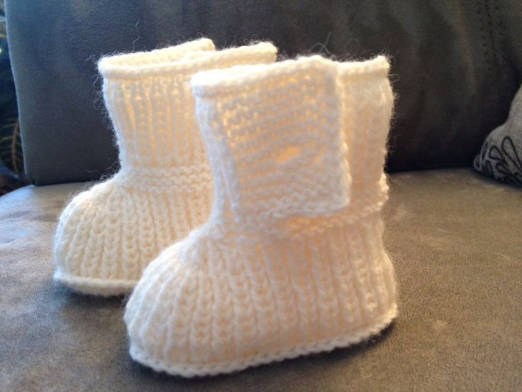 how to knit baby ugg booties