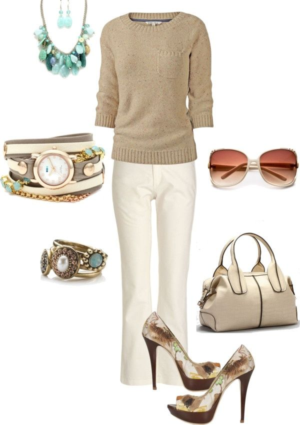 work outfit by kaybraden on Polyvore- shades & shoes not practical for the science classroom