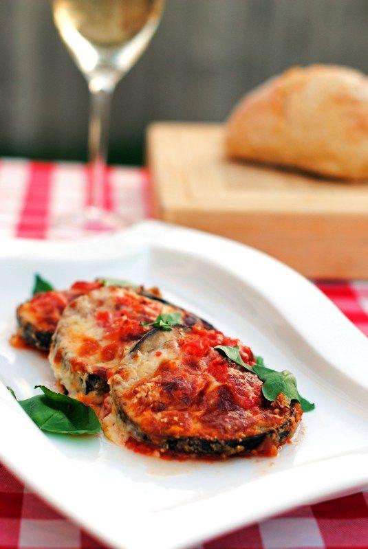 Light Eggplant Parmesan Recipe — Dishmaps