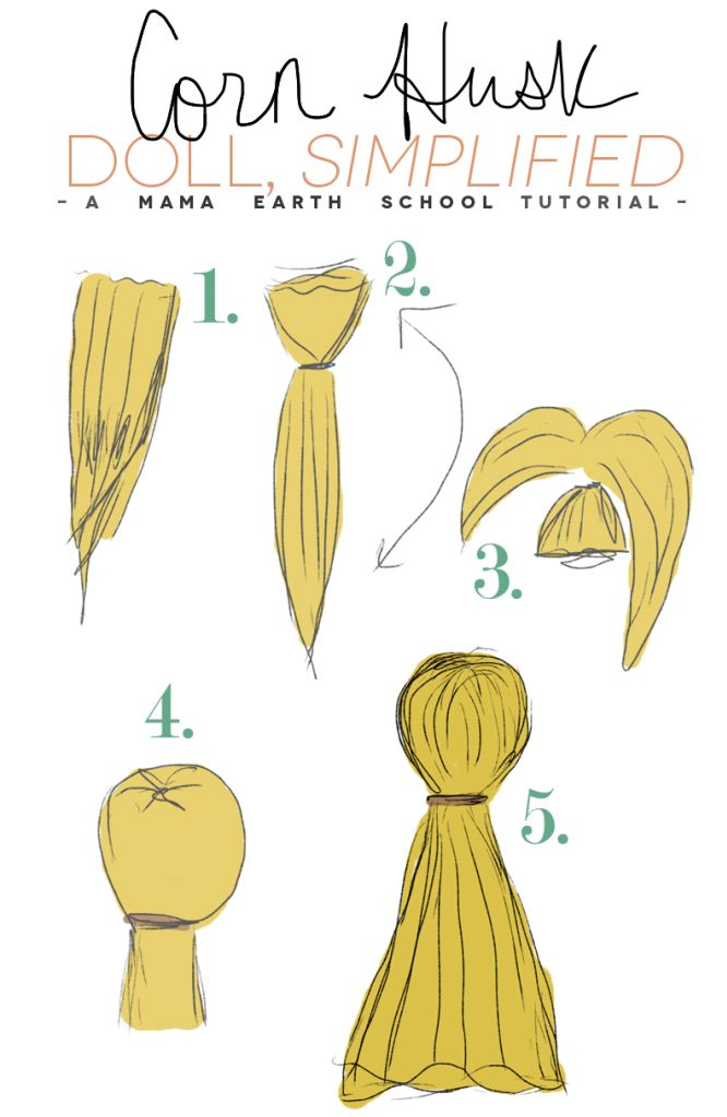 corn husk doll instructions