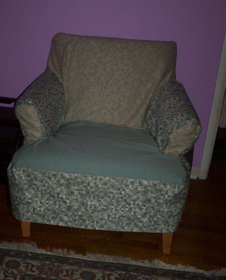 Slip Cover for ugly chair | Ulpholstery | Pinterest