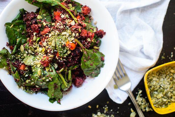 Vegan Potluck: Roasted Beet Quinoa salad with Cranberry Sweet Potato ...