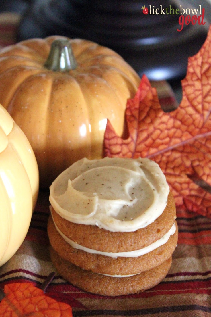 Pumpkin Cookies with Brown Butter Icing | recipes to try | Pinterest