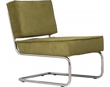 Lounge stoel Ridge Rib - Groen - Zuiver - Woonwebwinkel LiL.nl