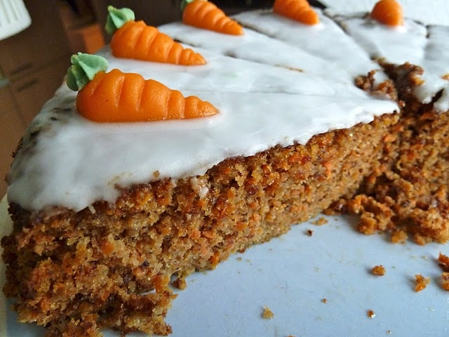 carrot cake with marzipan carrots | Recipes | Pinterest
