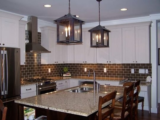 chocolate brown subway tile for kitchen home envy