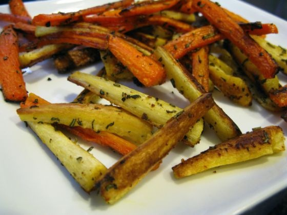 "How to make carrot and parsnip ""fries"" 