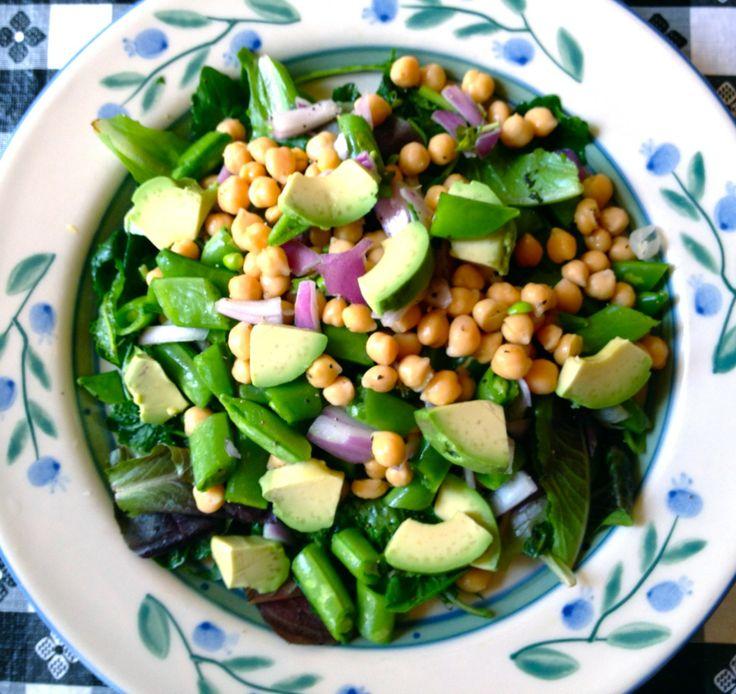 Lemon-Dill Snap Peas And Chickpeas Recipe — Dishmaps