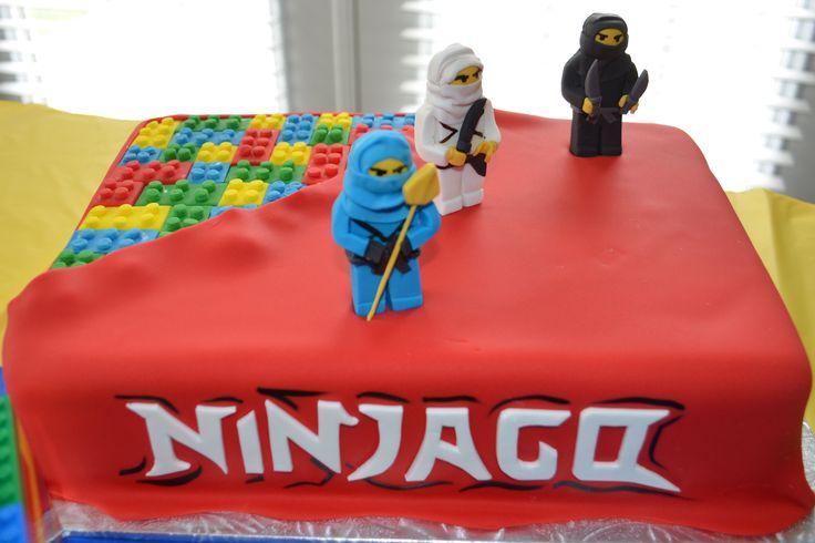 Lego Ninjago Cake Birthday Party Ideas Pinterest