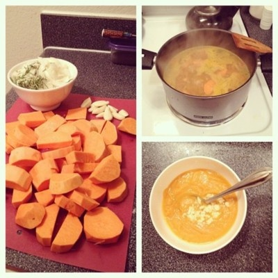 Sweet Potato & Rosemary Soup   Recipes to attempt someday   Pinterest