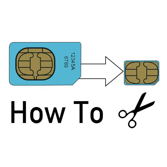 how to cut your own nano sim card  with easy pdf template