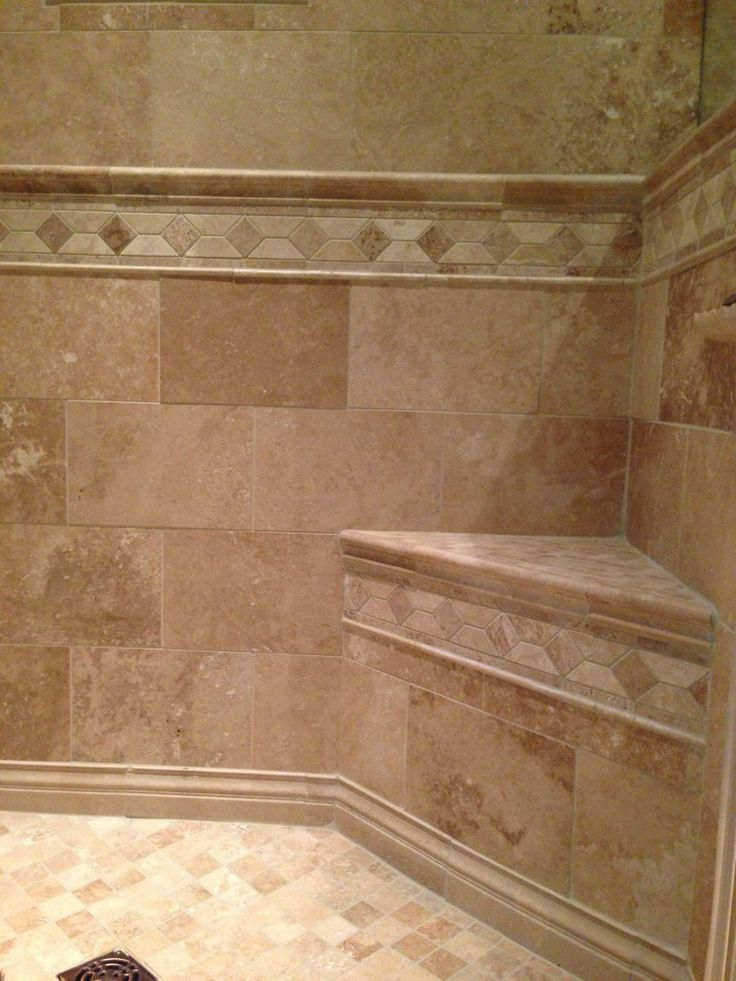 Wall Tile With Border Bathroom Ideas Pinterest