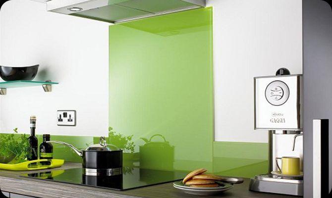 Steenstrips Achterwand Keuken : Kitchen Splashback Lime Green