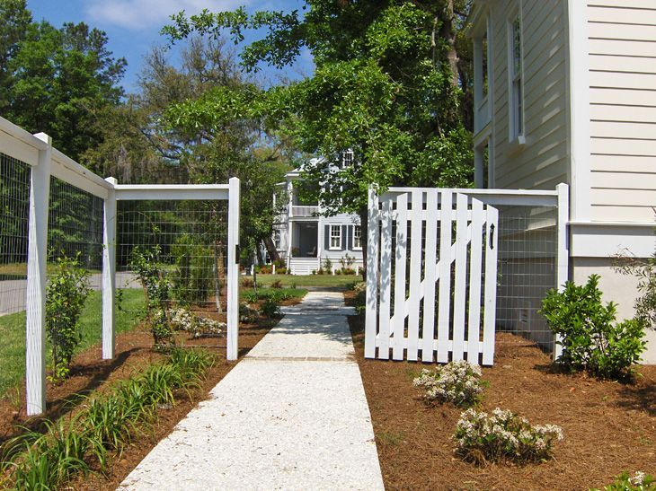 Wood post wire fence fences pinterest