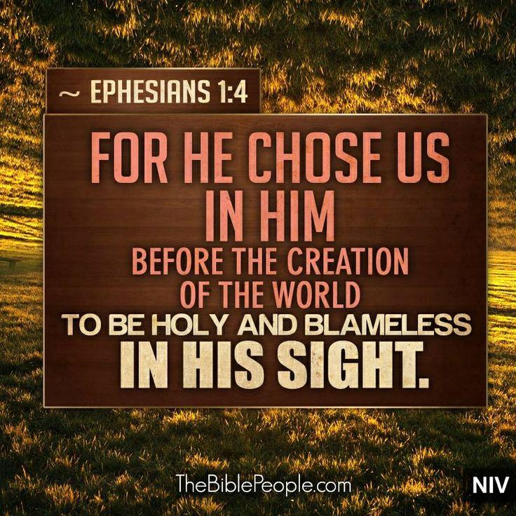 Ephesians 1:4 | Child of God | Pinterest