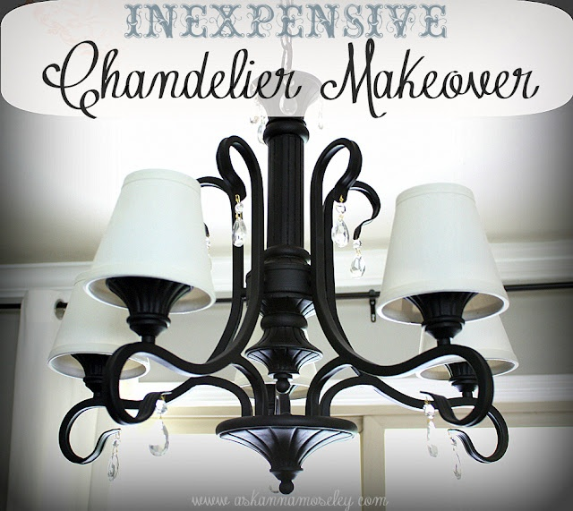refinish a chandelier