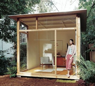 X She Shed With Loft Used For Bed