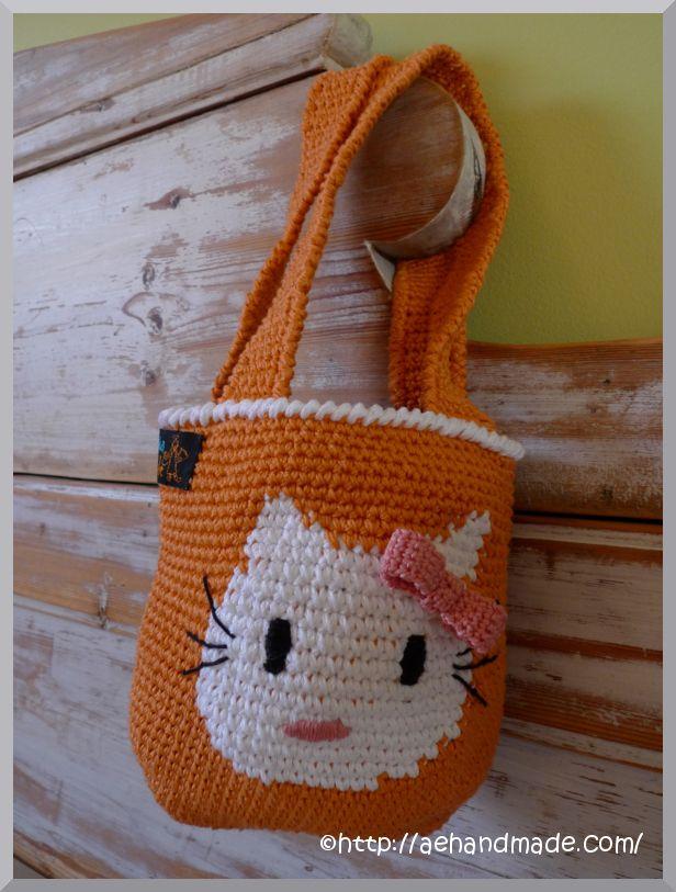 Free Crochet Pattern Hello Kitty Bag : hello kitty bag Crochet Crazy Pinterest