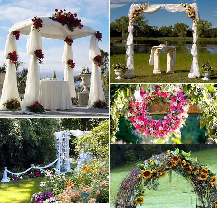 Different types of wedding arches wedding ceremony ideas for Archway decoration ideas