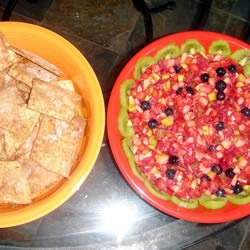 Annie's Fruit Salsa And Cinnamon Chips Recipe — Dishmaps