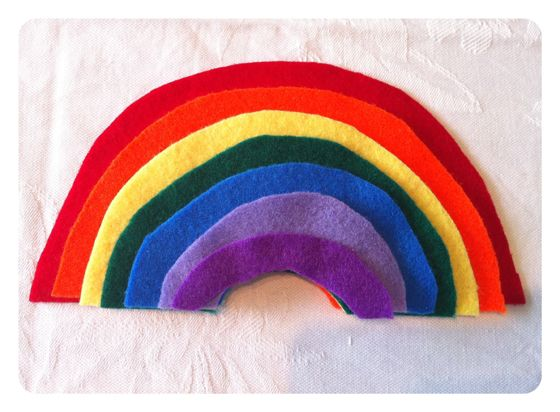 One Perfect Day | DIY Felt Rainbow Size Sorting Game