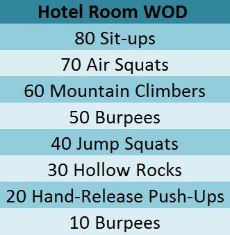 Hotel room WOD