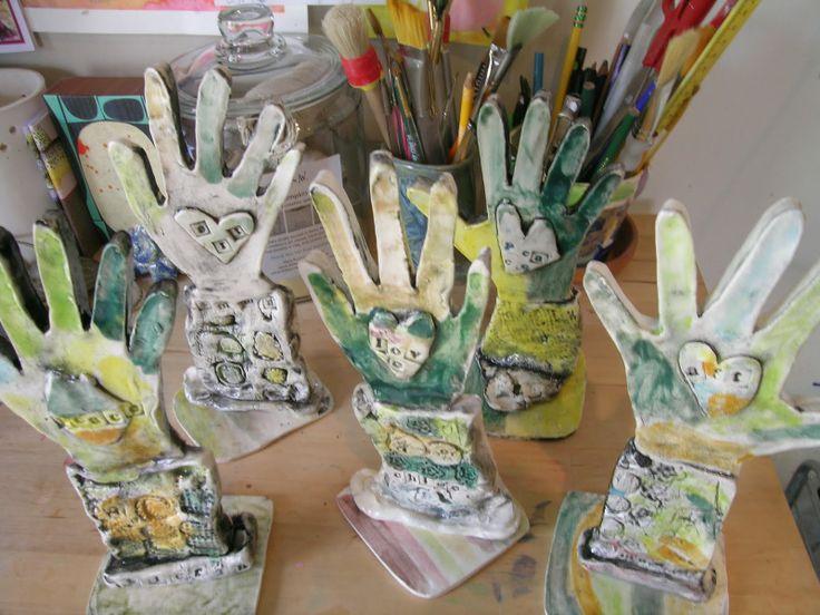 hand sculptures clay
