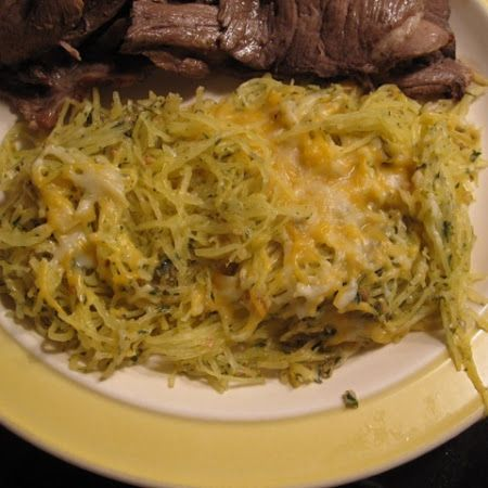 Baked Spaghetti Squash With Garlic And Butter Recipe ...