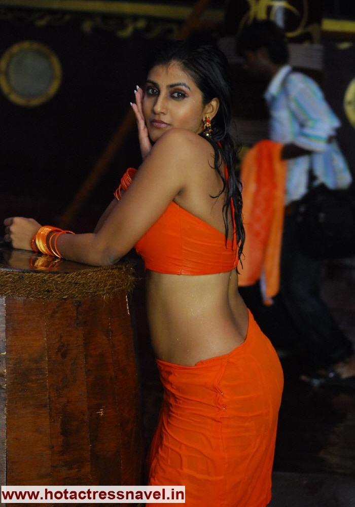 back thigh sari saree hot sexy spicy navel kausha navel sari