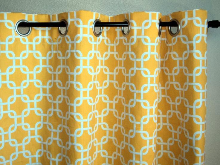 ... Curtains, Geometric Pattern Metal Grommet Curtains. $170.00, via Etsy