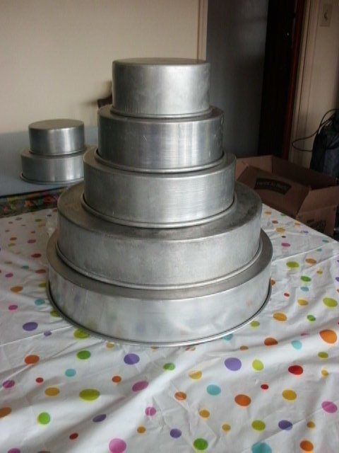 wedding cake pans tire set 16 14 10 8 6 3 qu