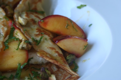 honey plum crepes with ricotta and mint | I'M IN THE KITCHEN (RECIPES ...