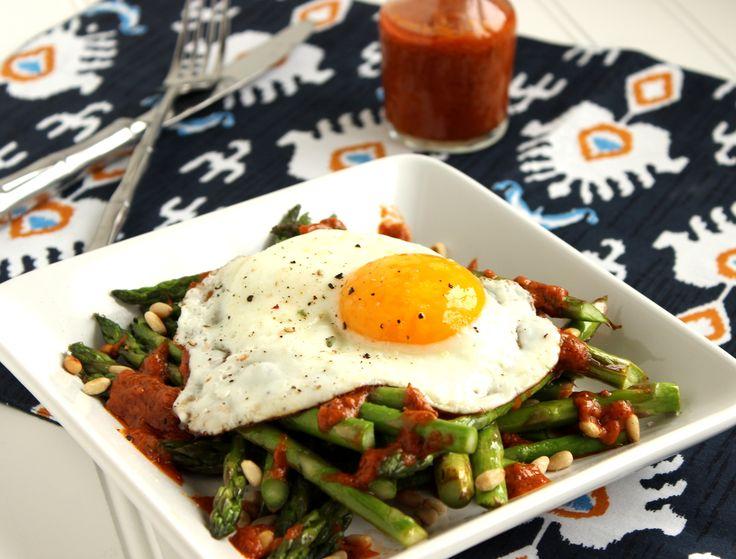 Warm Asparagus Salad with Roasted Tomato Vinaigrette