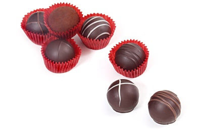 Li-Lac truffles come in french cream, hazelnut, mocha, caramel ...