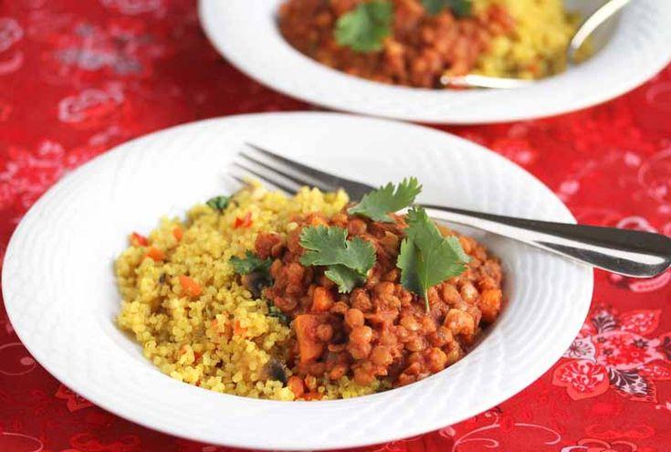 Easy Crockpot Lentil Chili Recipe, meatless and vegan #chili #vegan # ...