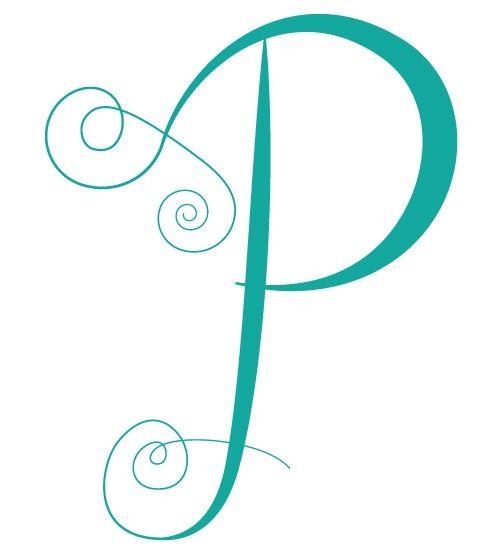 Letter P | Turquoise | Pinterest