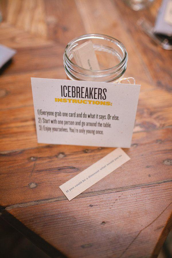 ice breakers weddings pinterest