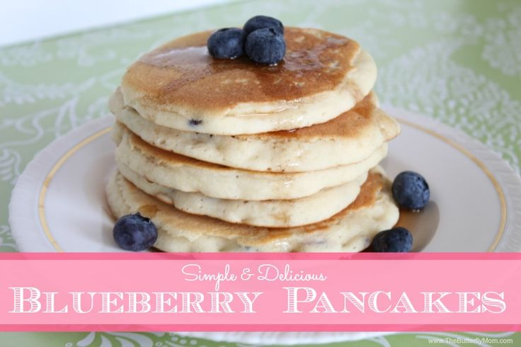 Simple Delicious Blueberry Pancakes