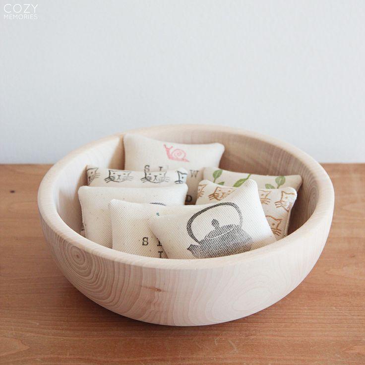 Handmade decor - Organic Cotton Mini Pincushions | Cozy Memories