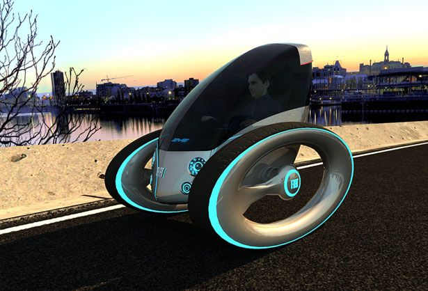 so easy to park- Fiat eye personal vehicle, designed by Dinard Da Mata