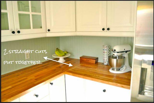 Diy butcher block countertops kitchen pinterest for How to install a butcher block countertop