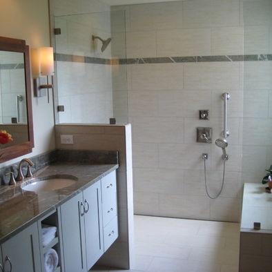Bathroom Curbless Shower Design Bathroom Ideas Pinterest