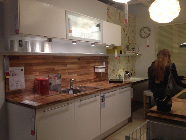 TerrassenUberdachung Holz Weis Glas ~ Küche in weiß mit Glas & Holz  Küche  Pinterest