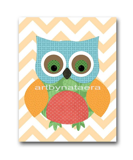 Owl Decor Owl Nursery Kids Wall Art Baby Boy Nursery Decor Baby Nurse