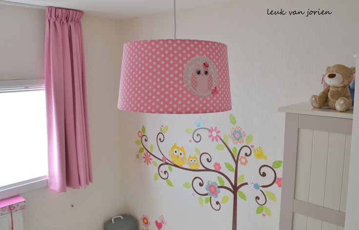 Kinderkamer Lampenkap : leuke lampenkap roze met uil gemaakt voor ...