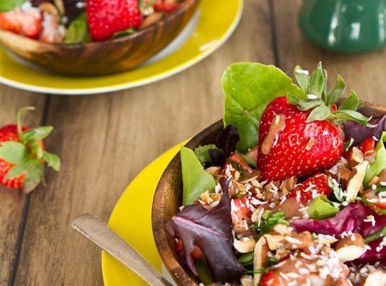 : Spring Salad with Strawberry Lemon Basil Dressing :) #recipe #salad ...