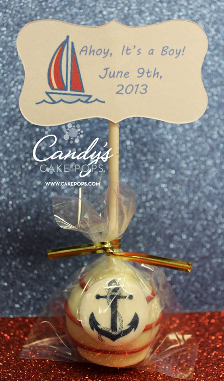 baby boy red white amp blue sailing anchor cake pops w tag