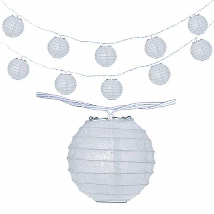 String Lights In Bulk : Mini Lanterns String Lights BULK - White [CSD123-042B White Lantern L?
