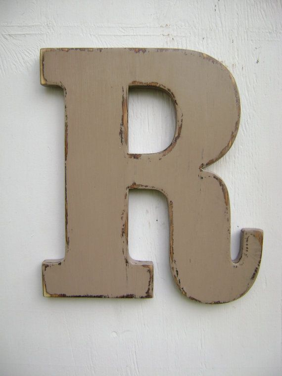 Rustic Letters Wall Decor : Personalized initals big letters decor rustic wall hanging