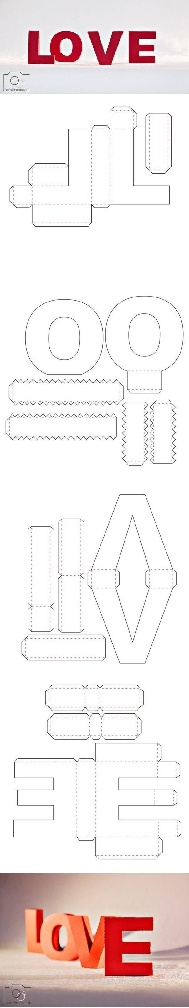 Объемные буквы своими руками из бумаги шаблоны